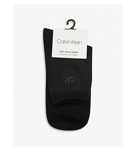 CALVIN KLEIN Crystal soft touch socks (Black