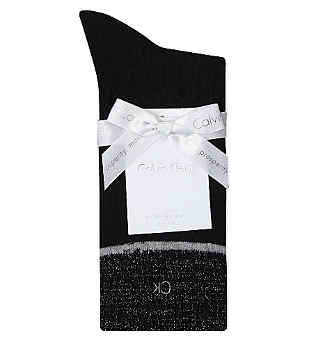 CALVIN KLEIN Christmas Layla cashmere-blend socks (00+black