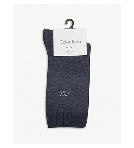 CALVIN KLEIN Crystal soft touch socks (522 denim htr