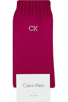 CALVIN KLEIN Crystal logo soft touch socks