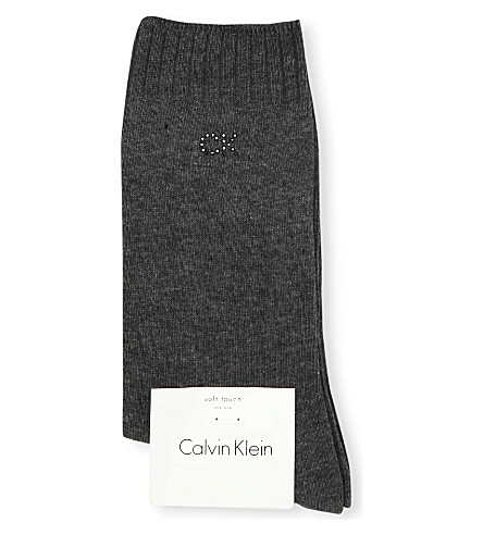 CALVIN KLEIN Soft touch combed cotton socks (Charcoal