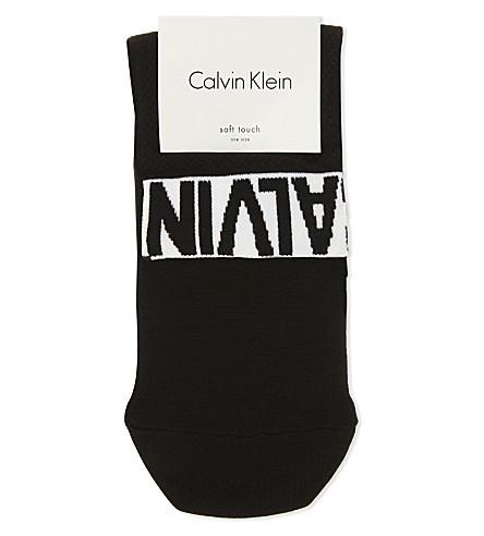 CALVIN KLEIN Kacey modern logo ankle socks (00+black