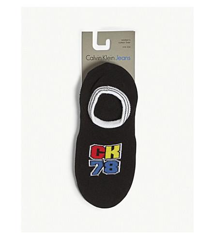 CALVIN KLEIN 78 cotton ankle socks (00+black