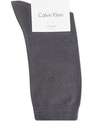 CALVIN KLEIN Avery flat knit silk socks