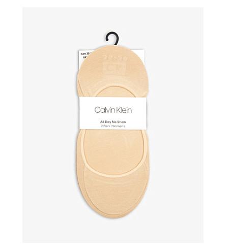 CALVIN KLEIN Pack of 2 ballet liner socks (203+nude