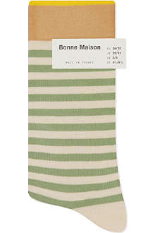 BONNE MAISON Striped ankle socks