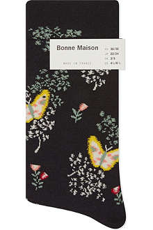 BONNE MAISON Butterfly ankle socks