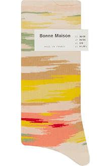 BONNE MAISON Zigzag ankle socks