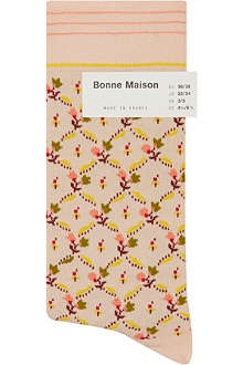 BONNE MAISON Small floral ankle socks