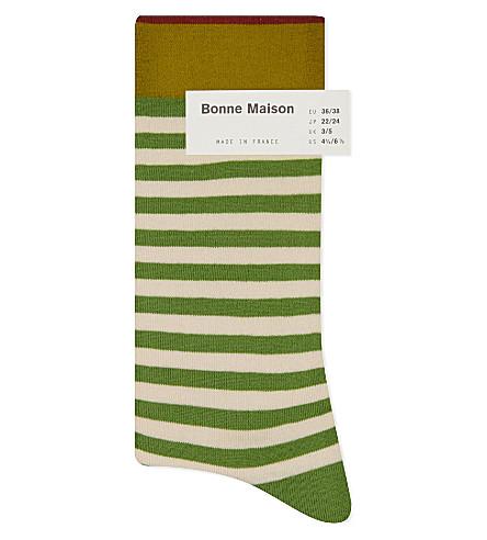 BONNE MAISON Striped ankle socks (Ma601
