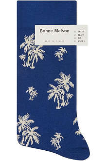 BONNE MAISON Palm tree ankle socks