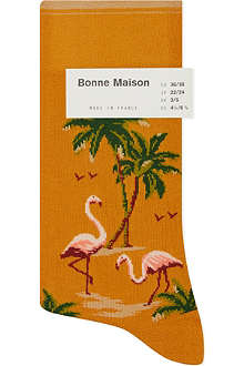 BONNE MAISON Flamingo ankle socks