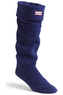 HUNTER Fleece tall welly socks
