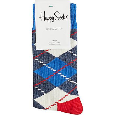 HAPPY SOCKS Argyle socks (Blue