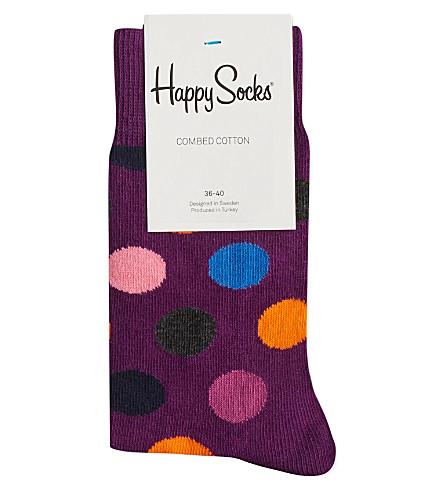 HAPPY SOCKS Big dot socks (Purple