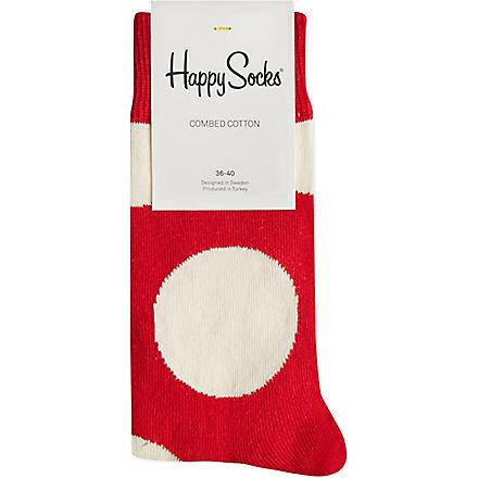 HAPPY SOCKS Jumbo dots socks (White/red