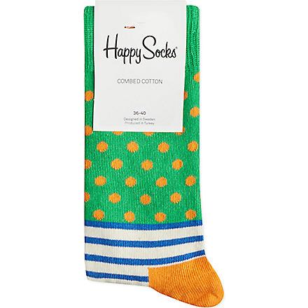 HAPPY SOCKS Stripes & spots socks (Blue