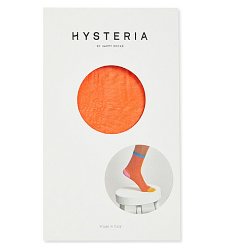 HYSTERIA Frankie colour-block short socks (Orange