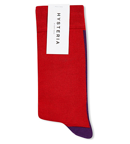 HYSTERIA Gigi mid high socks (Red