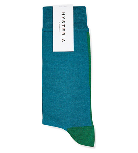 HYSTERIA Gigi mid high socks (Blue