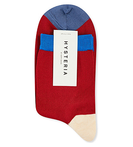 HYSTERIA Grace knitted ankle socks (Red
