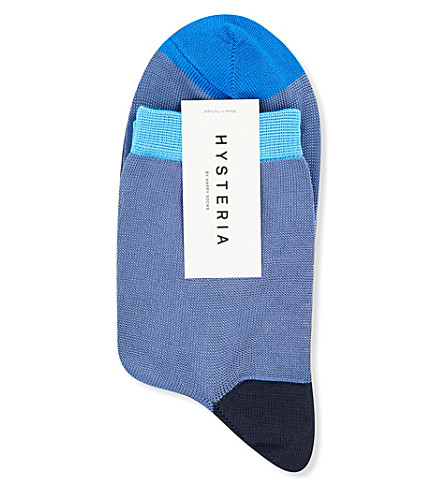 HYSTERIA Grace knitted ankle socks (Blue