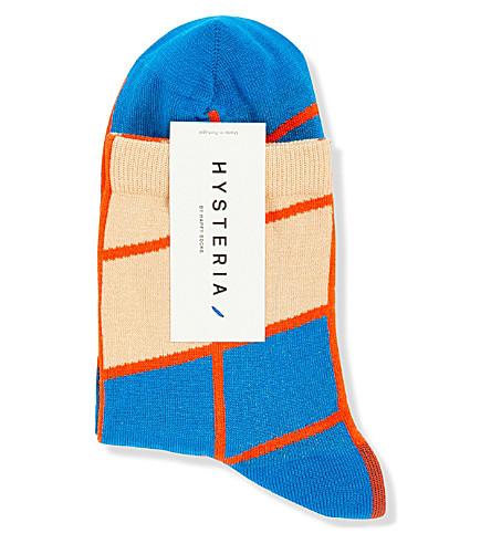 HYSTERIA Karen grid ankle socks (Blue