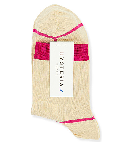 HYSTERIA Lily Rib ankle socks (Cream