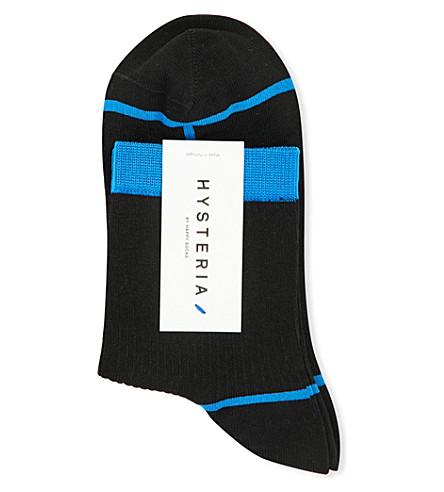 HYSTERIA Lily Rib ankle socks (Black