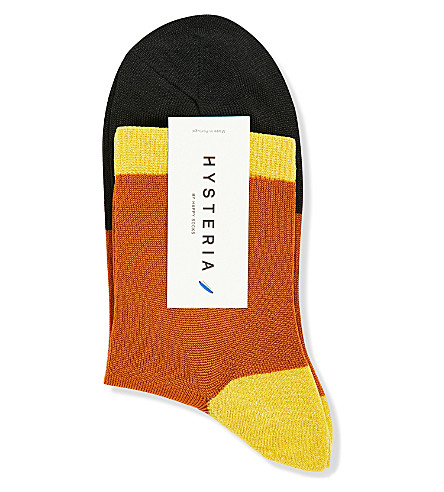 HYSTERIA Liza Sparkle ankle socks (Red