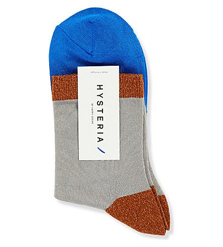 HYSTERIA Liza Sparkle ankle socks (Grey