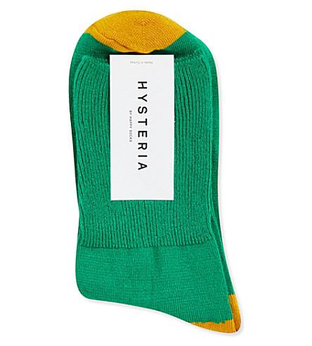 HYSTERIA Marina colour-block ankle socks (Green