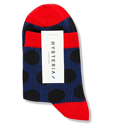 HYSTERIA Viktoria dot ankle socks (Blue