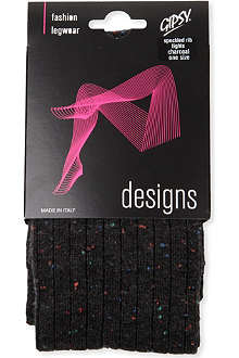 GIPSY Speckled ribbed tights