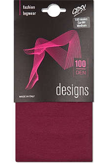 GIPSY 100 denier garnet tights