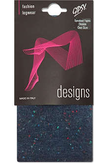 GIPSY Speckled denim-colour tights