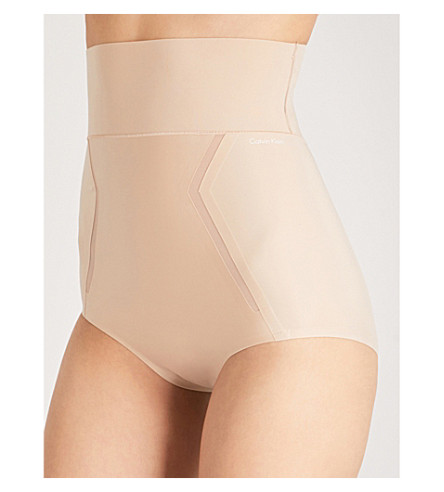 CALVIN KLEIN High-rise stretch-jersey briefs (Bare