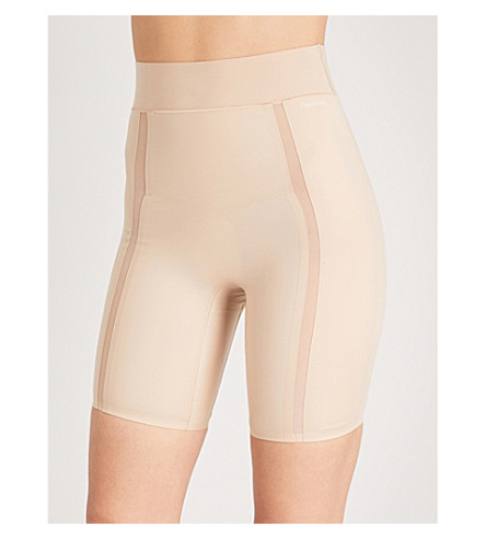 CALVIN KLEIN Mesh-panel stretch-jersey shorts (Bare