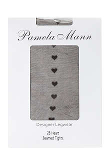 PAMELA MANN Heart seamed tights