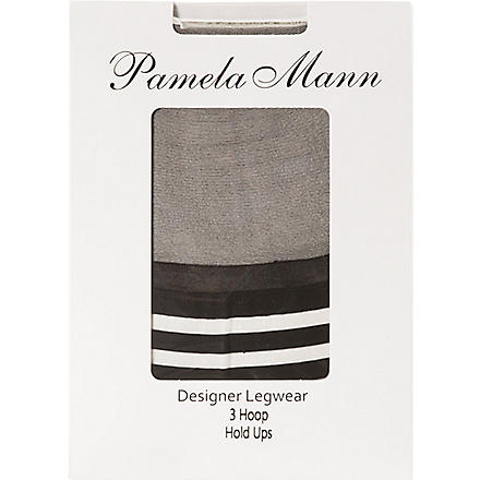 PAMELA MANN Hoop hold ups (Black