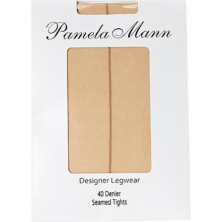 PAMELA MANN Seamed tights 40 denier (Nude