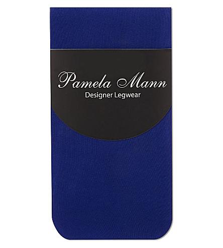 PAMELA MANN 50 denier ankle socks (Cobalt