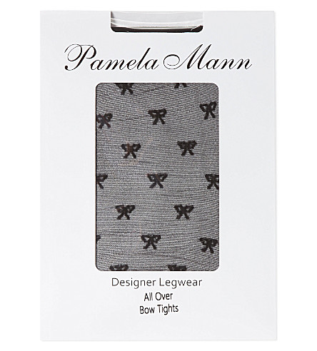 PAMELA MANN All over bow tights (Black