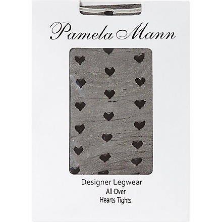 PAMELA MANN Heart tights (Black