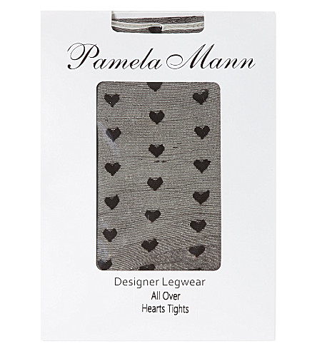 PAMELA MANN Heart tights (Black