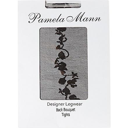 PAMELA MANN Bouquet back tights (Black