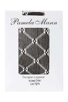 PAMELA MANN Knitted crossline tights