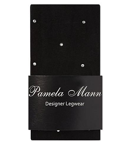 PAMELA MANN Over the knee crystal socks (Black