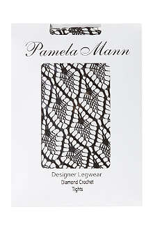 PAMELA MANN Diamond crochet tights