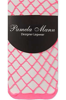 PAMELA MANN Net ankle socks